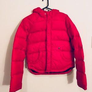 Tommy Hilfiger Red puffer coat jacket vintage PINK
